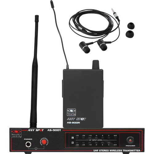Galaxy Audio AS-900K2 Any Spot Series Wireless Personal Monitoring System (633.4 MHz)
