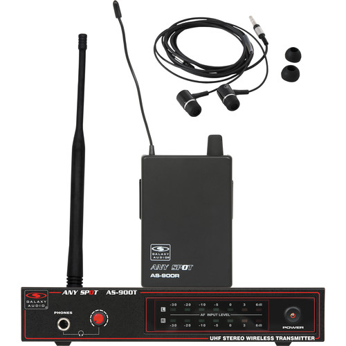 Galaxy Audio AS-900K3 Any Spot Series Wireless Personal Monitoring System (634.8 MHz)