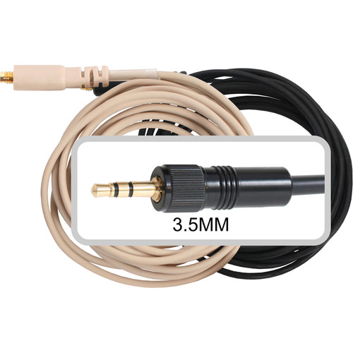 Galaxy Audio HSM3  and ESM3 Cable for Most Sennheiser Belt Packs
