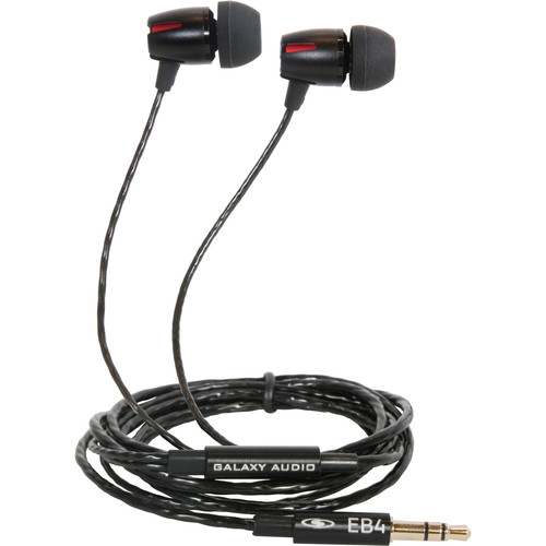 Galaxy Audio EB4 Single-Driver In-Ear Stereo Monitor Headphones