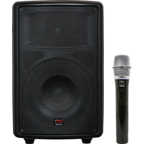 "Galaxy Audio TQ8-40HON Traveler Quest 8"" Speaker with Wireless Handheld Microphone"