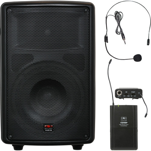 """Galaxy Audio TQ8-40S0N Traveler Quest 8"""" Speaker and Bodypack Transmitter with Headset Mic"""