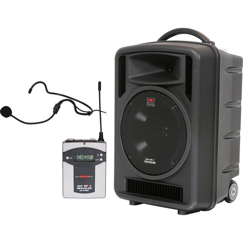 "Galaxy Audio Traveler 10"" 150W Peak PA System with UHF Receiver, Bodypack and Headset Mic"