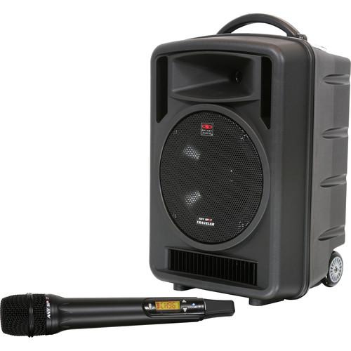 "Galaxy Audio Traveler 10"" 150W Peak PA System with CD Player, UHF Receiver & Handheld Wireless Mic"