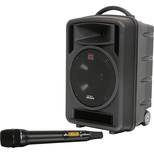 "Galaxy Audio Traveler 10"" 150W Peak PA System with CD Player, UHF Receiver & Handheld Wireless Mic"