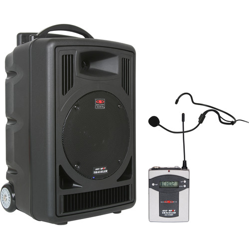 Galaxy Audio TV8 Traveler Series 120W PA System with Single UHF Receiver, Bodypack Transmitter, and Headset Microphone