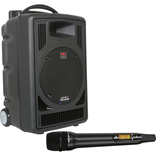 Galaxy Audio TV8 Traveler Series 120W PA System with CD Player, Single UHF Receiver, and One Wireless Handheld Microphone