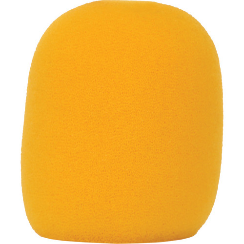 Galaxy Audio WS-HY Windscreen for Wired Handheld Microphones (Yellow)