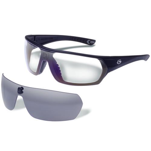 Gargoyles Shifter Ballistic Protection Sunglasses (Matte Black Frame, Smoke & Clear Lenses)