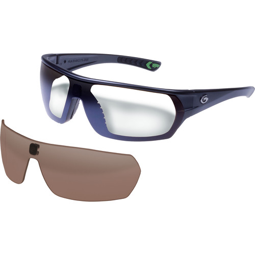 Gargoyles Shifter Ballistic Protection Sunglasses (Matte Graphite Metallic Frame, Brown & Silver Lenses)