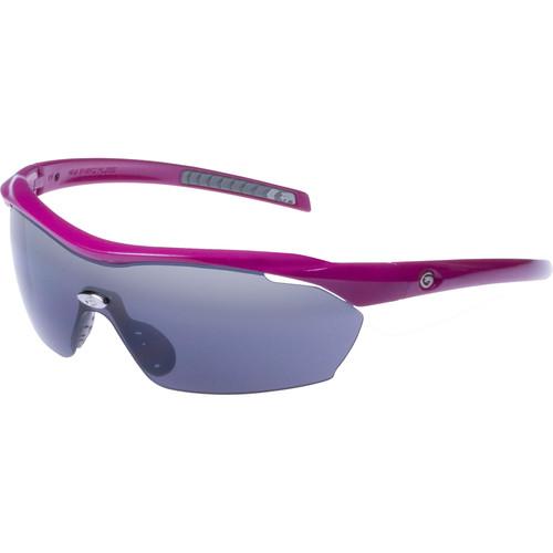 Gargoyles Pursuit Ballistic Protection Sunglasses (Fuchsia Frame, Smoke Lenses)