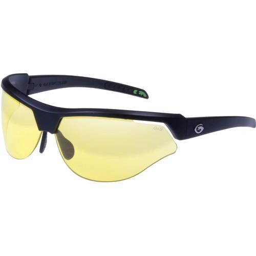 Gargoyles Cardinal-PR Sunglasses (Matte Black Frame, Yellow Lenses)