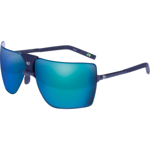Gargoyles Classic Sunglasses (Rubberized Black Frame, Smoke/Blue Lenses)