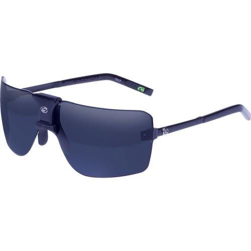Gargoyles 85's Mirrored Sunglasses (Black Frame, Smoke/Blue Lenses)
