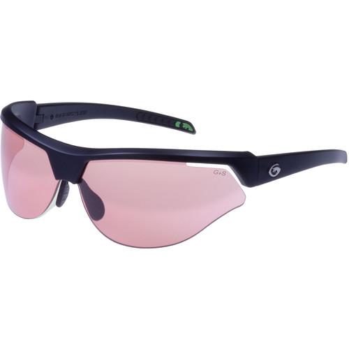 Gargoyles Cardinal-PR Sunglasses (Matte Black Frame, Rose Lenses)