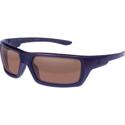 Gargoyles Khyber Polarized Sunglasses (Matte Metallic Dark Red Frame, Brown/Silver Lenses)