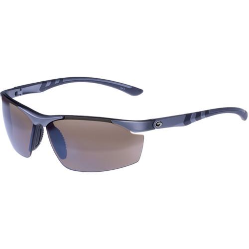 Gargoyles Assault Ballistic Sunglasses (Metallic Light Gunmetal Frame, Brown/Silver Lenses)