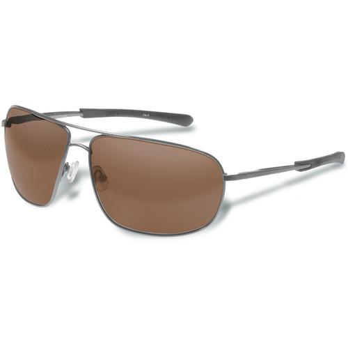 Gargoyles Shindand Polarized Mirrored Sunglasses (Shiny Gun Frame, Brown/Silver Lenses)