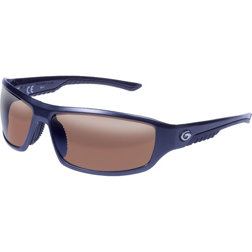 Gargoyles Prevail Polarized Sunglasses (Matte Dark Gun Frame, Brown/Silver Lenses)