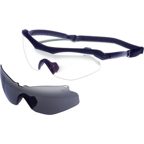 Gargoyles Trench Sunglasses with Head Strap (Matte Black Frame, Smoke Lens)