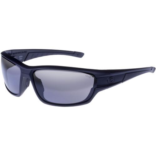 Gargoyles Havoc Polarized Mirrored Sunglasses (Matte Black Frame, Smoke Lenses)