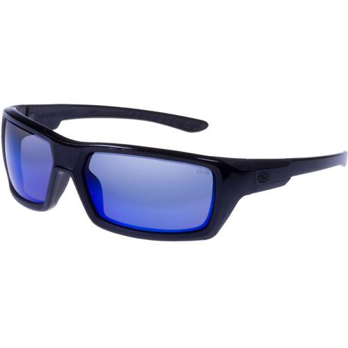 Gargoyles Khyber Polarized Mirrored Sunglasses (Black Frame, Smoke/Blue Lenses)