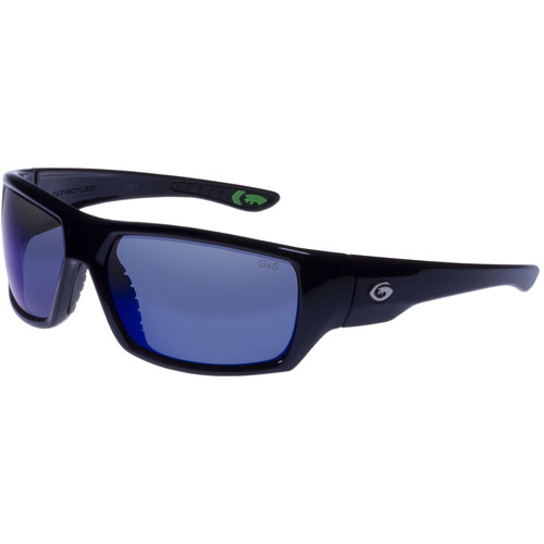 Gargoyles Wrath Polarized Sunglasses (Black Frame, Smoke Lenses)