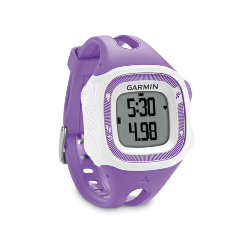 Garmin Forerunner 15 Bundle (Small, Violet/White)