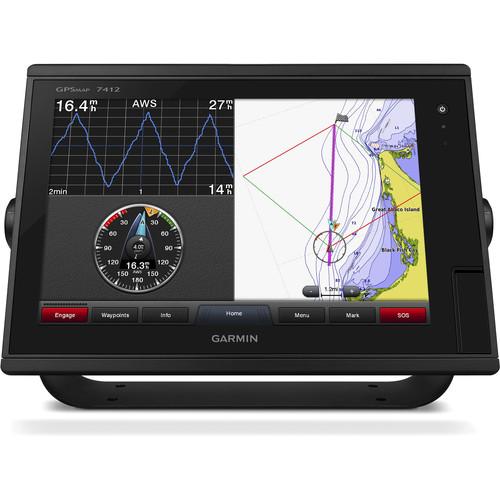 "Garmin GPSMAP 7412 12"" Fully-Network Capable Chartplotter with J1939 Engine Data Port"