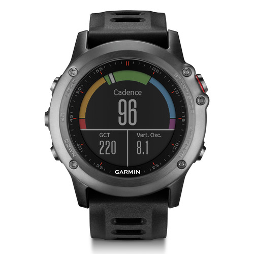 Garmin fenix 3 Multisport Training GPS Watch Performer Bundle (Gray with Black Band)