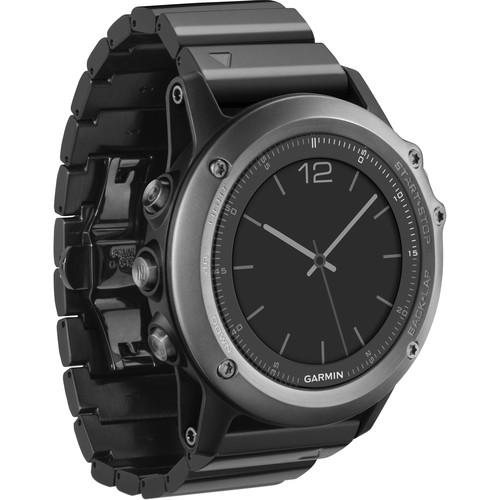 Garmin fenix 3 Multisport Training GPS Watch Performer Bundle (Sapphire with Stainless Steel Bracelet)