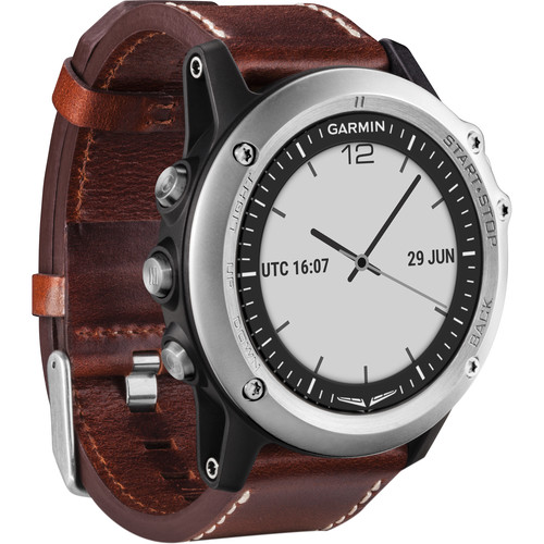 Garmin D2 Bravo GPS Aviator Navigation Watch (Brown Leather Band)