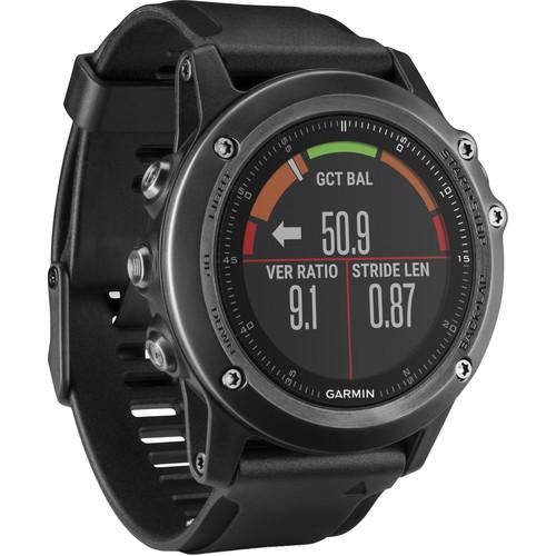 Garmin fenix 3 HR Multi-Sport Training GPS Watch (Gray, Black Band)