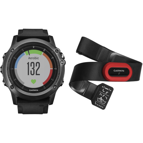 Garmin fenix 3 HR Performer Bundle (Gray, Black Band)