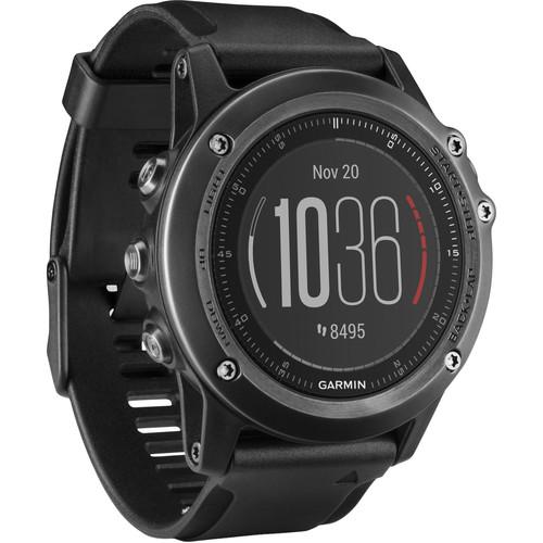 Garmin fenix 3 HR Multi-Sport Training GPS Watch (Slate Gray, Stainless Steel Band