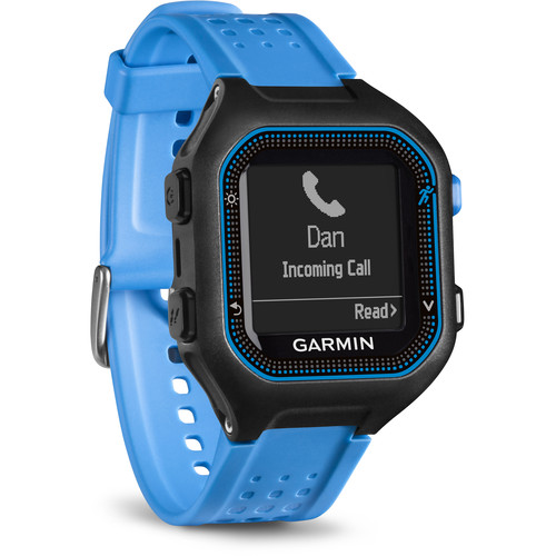 Garmin Forerunner 25 GPS Running Watch (Large, Black/Blue)