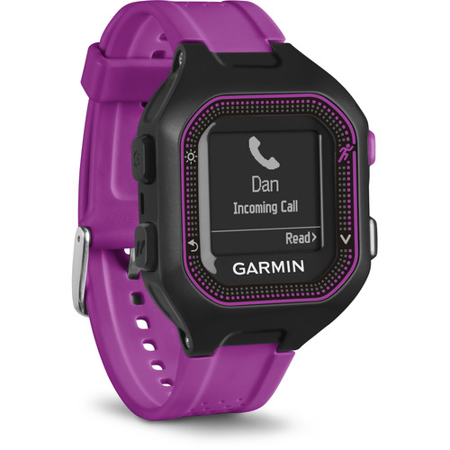 Garmin Forerunner 25 GPS Running Watch (Small, Black/Purple)