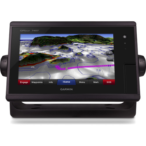 "Garmin GPSMAP 7407 7"" Fully-Network Capable Chartplotter with J1939 Engine Data Port"