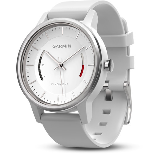 Garmin vivomove Sport Activity Tracking Watch (White, White Sport Band)