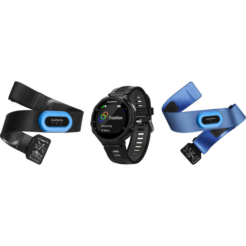Garmin Forerunner 735XT Sport Watch with Tri-Bundle (Black/Gray)
