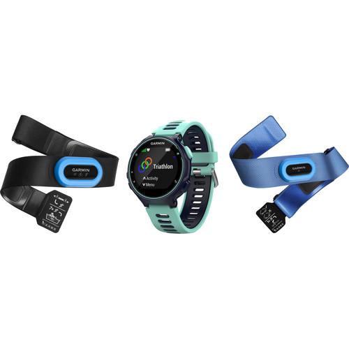 Garmin Forerunner 735XT Sport Watch with Tri-Bundle (Midnight Blue/Frost Blue)