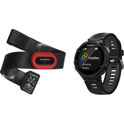 Garmin Forerunner 735XT Sport Watch with Run Bundle (Black/Gray)