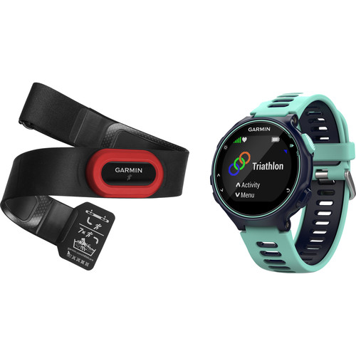 Garmin Forerunner 735XT Sport Watch with Run Bundle (Midnight Blue/Frost Blue)