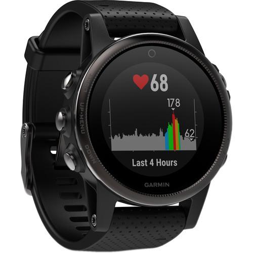Garmin fenix 5S Sapphire Edition Multi-Sport Training GPS Watch (Black, Black Band)