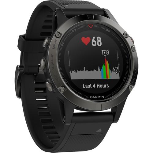 Garmin fenix 5 Sapphire Edition Multi-Sport Training GPS Watch (Black, Black Band)