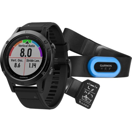 Garmin fenix 5 Sapphire Edition Multi-Sport Training GPS Watch Performer Bundle (Black, Black Band)