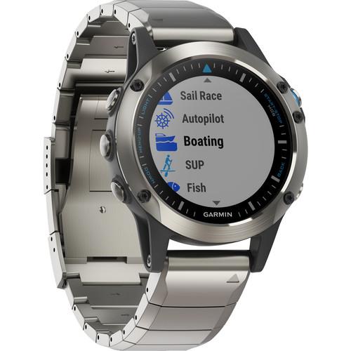 Garmin quatix 5 Sapphire Edition Multi-Sport Marine Watch (Stainless Steel with Metal Band)