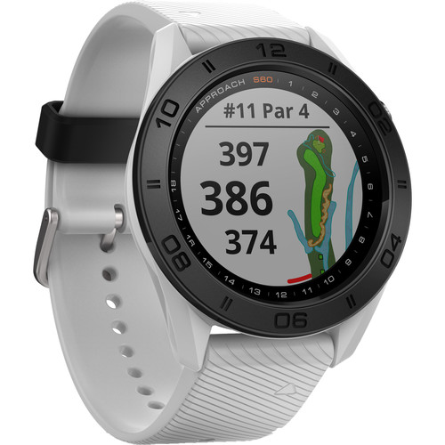 Garmin Approach S60 Golf Watch (White with White Band)