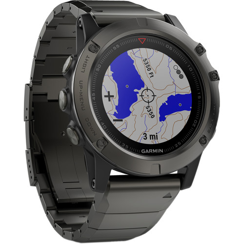 Garmin fenix 5X Sapphire Edition Multi-Sport Training GPS Watch (Slate Gray, Metal Band)