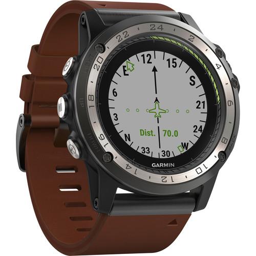 Garmin D2 Charlie GPS Aviator Navigation Watch (Leather Band)
